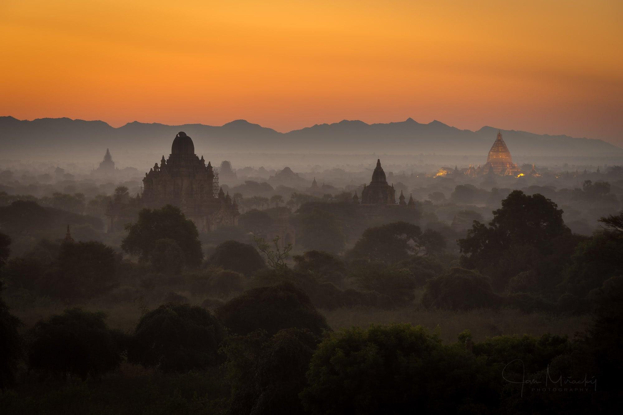 Temples of Bagan at sunrise