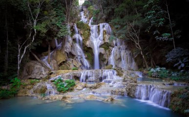 Kuang Si waterfalls in Laos