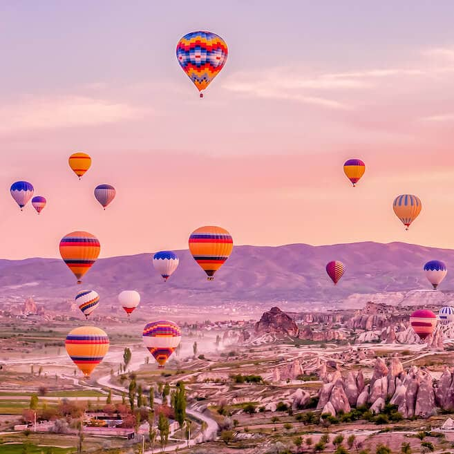 Sunrise in Cappadocia, Turkey