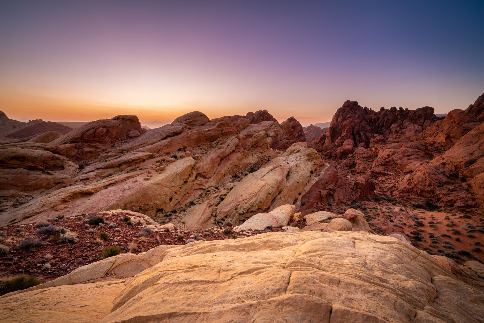 Fire Canyon at sunrise, Valley of Fire State Park