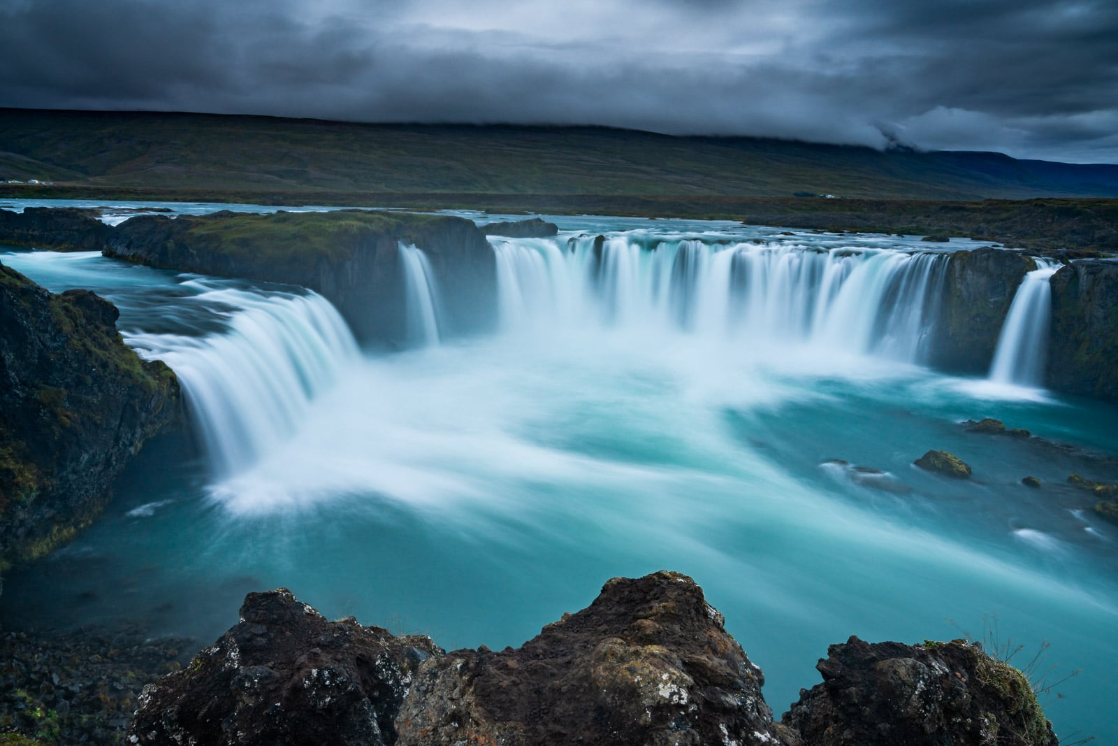 After - Godafoss water, Iceland