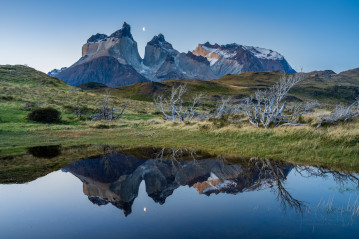 Reflection of Los Cuernos, Torres del Paine National Park