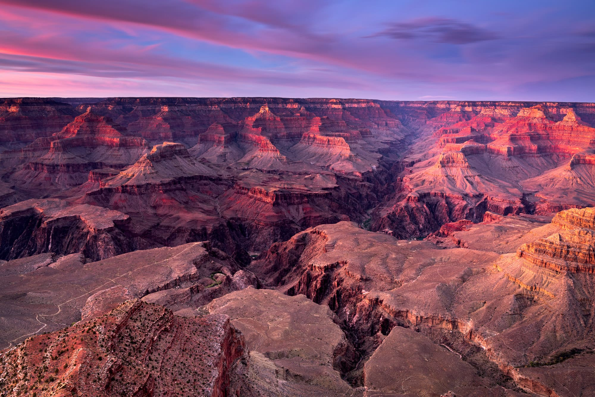 Yavapai Point Grand Canyon at sunset