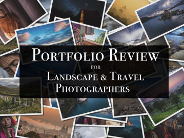 Portfolio review for landscape and travel photographers